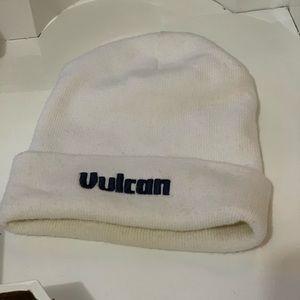 'Vulcan' white beanie
